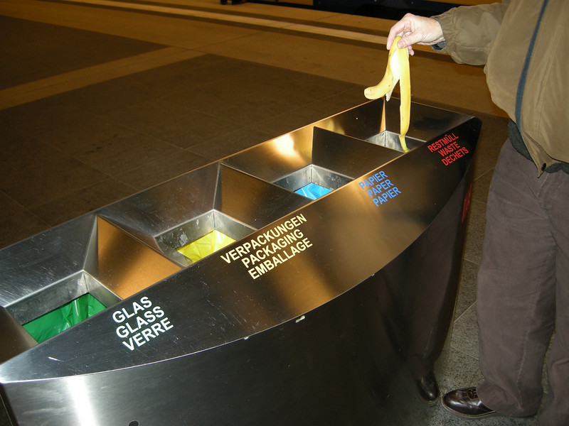 recycling in train station