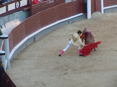 The matadors look like they have control of the situation, but it can change in an instant.
