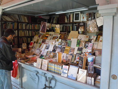 Open air bookstores are a common sight.
