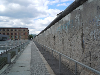 A section of the Berlin Wall that was left standing.