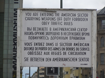 The remnants of CheckPoint Charlie.