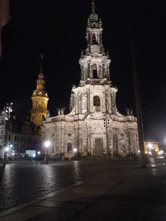 The Dresden skyline at night.