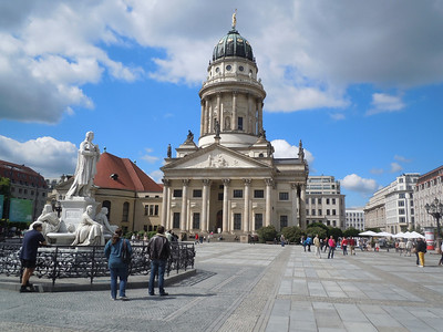 Berlin, like Dresden, was almost completely destroyed during WWII, but has been rebuilt and restored.