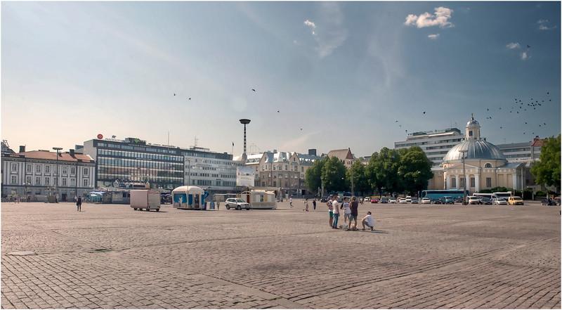 The central square in Turku, Finland.