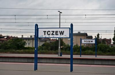 Bless you!  Polish train platform.