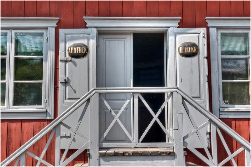 Pharmacy entrance, Turku, Finland.