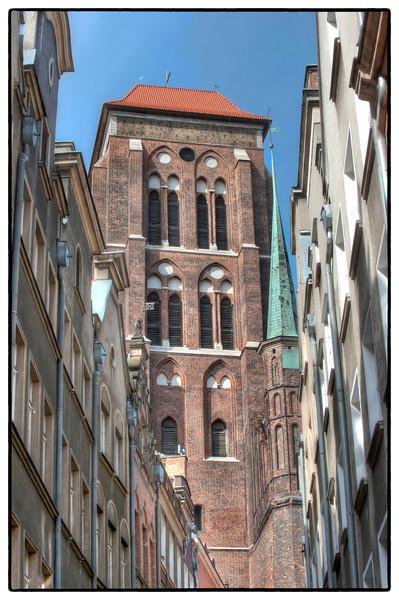 Downtown Gdansk, Poland.