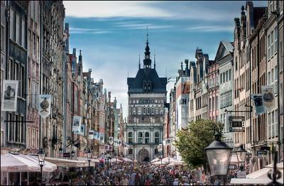 Dluga Street, Gdansk, Poland - HDR.