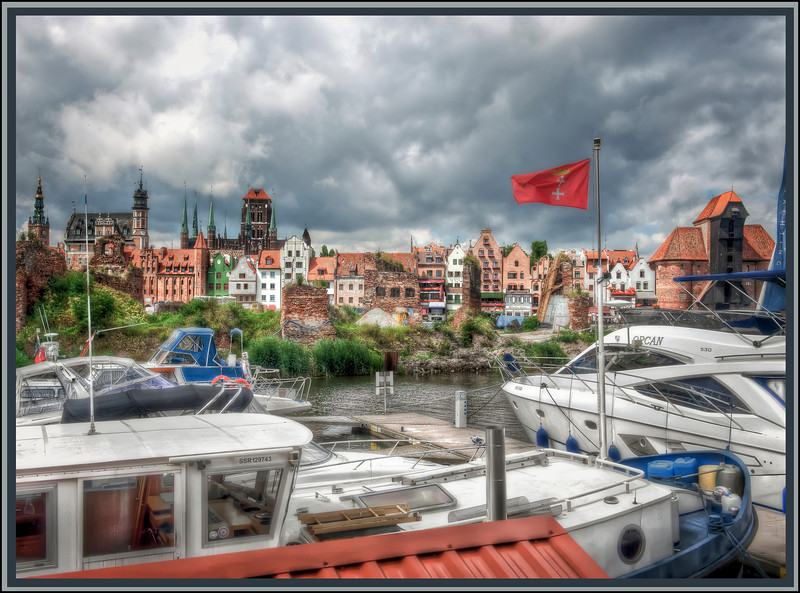 Gdansk, Poland, on the Motlawa River.