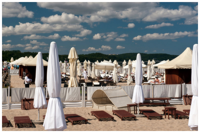 The beach at Sopot, Poland, the 'Monaco of the Baltic.'