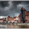 Storm warning, Gdansk, Poland.