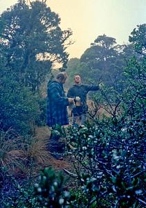 1987 62 Eric and Gerry walking up Browntop a