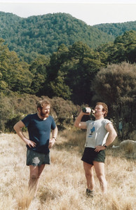 1987 Aug 68 Eric & Gerry Prenderville hunting in Oamaru