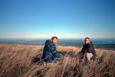 1987 62 Eric and Gerry hunting on Browntop a