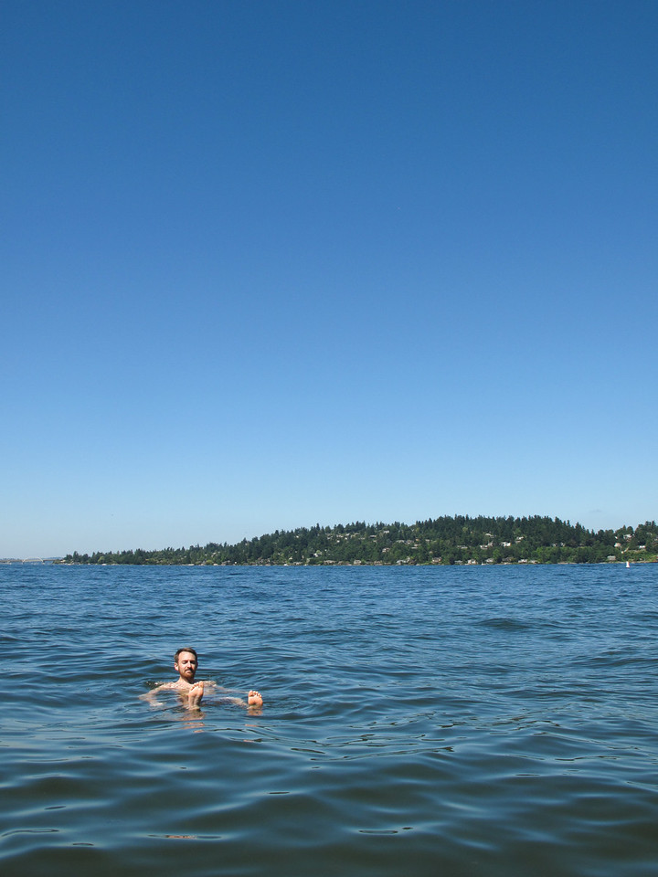Swimming in lake washington