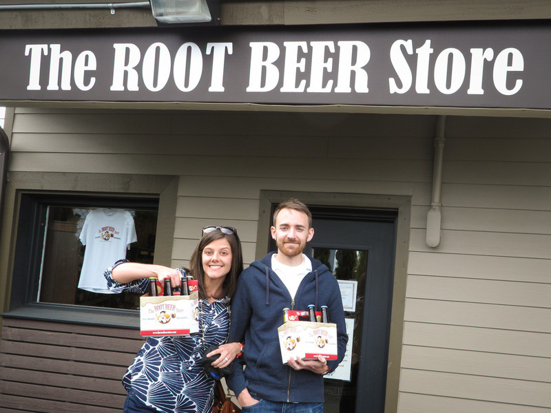 Root beer tasting at the root beer store