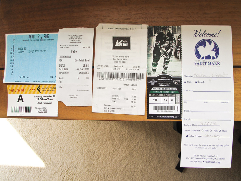 IMAX, Boeing Factory, Molly Moon, REI, Thunderbirds, Saint Mark