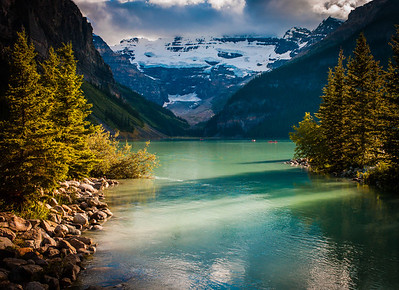 Entrance of Lake Louise, Banff National Park, Alberta, Canada