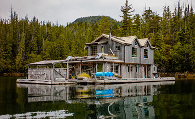 My friend's awesome float house in Tofino, Vancouver Island, British Columbia, Canada.