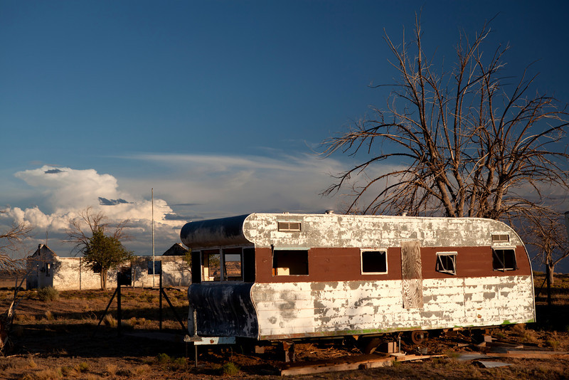 Coal Mine Mesa - Trailer used by the small community inhabitants.<br /> <br /> Coal Mine Mesa Arizona was a Navajo town that abandoned in the 1980's. It was abandoned due to that it was part of a reallocation of lands agreement between the Navajos and the Hopi in the 1970's.