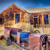 Old car and home in the Ghost Town of Bodie