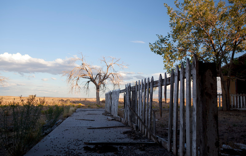 Coal Mine Mesa - Sidewalk to the towns school.<br /> <br /> Coal Mine Mesa Arizona was a Navajo town that abandoned in the 1980's. It was abandoned due to that it was part of a reallocation of lands agreement between the Navajos and the Hopi in the 1970's.