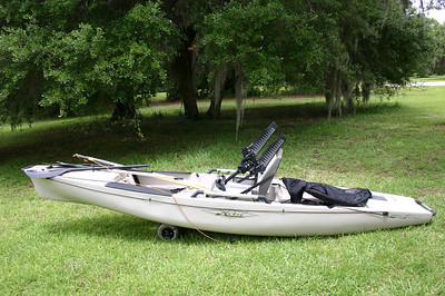 Hobie Pro Angler fishing kayak with many accessories. Excellent, owner maintained condition.