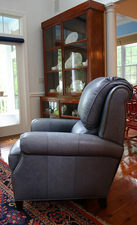 Matching leather recliner