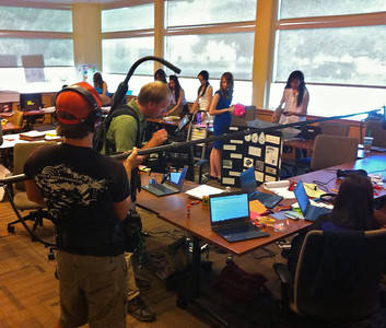 August 15th, last day of class.  Interviews, videotaping and last minute debugging and preparation of posters.