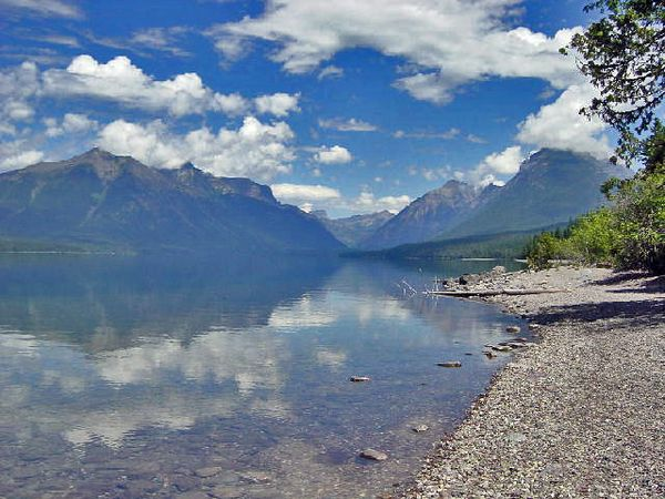 Lake McDonald, the Western entry to Glacier National Park