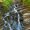 An intriguing little waterfall on Going To The Sun road