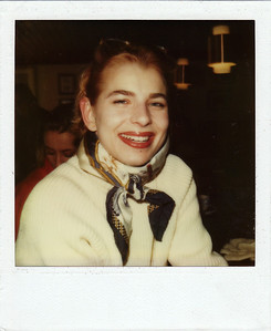 At the Cresta Bar or the Kings Club, St. Moritz. SX-70.