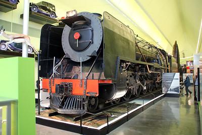 Steam SouthAfrican Railways No3007 built in Glasgow at Glasgow Riverside Transport Museum, Partick   03/07/12