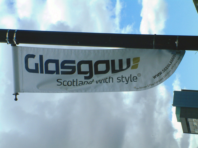 Glasgow promotional logo at Kelvingrove