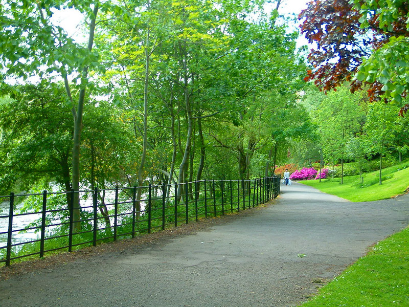 Kelvingrove Park by the River Kelvin