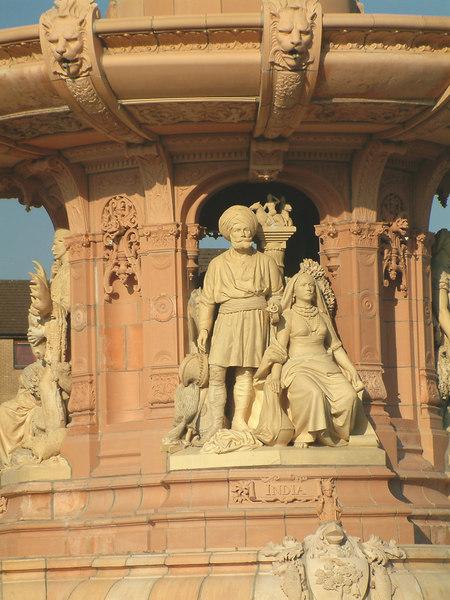Glasgow Green - Doulton Fountain - the Indian Group.