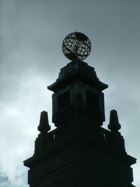 Globe on Kelvin Hall tower
