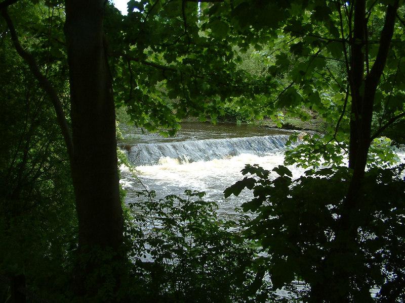 Waterfall on the River Kelvin in Kelvingrove Park