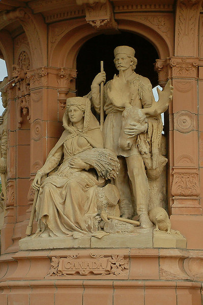 Glasgow Green - Doulton Fountain - the Canadian Group.