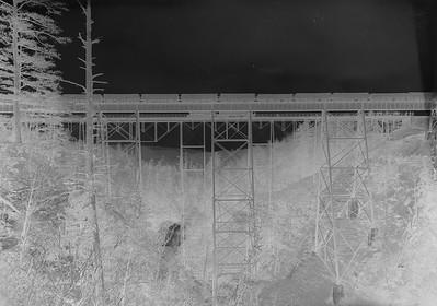 Glass Plate Negative 8X10  The Pittsburgh & Shawmut Railroad Bridge