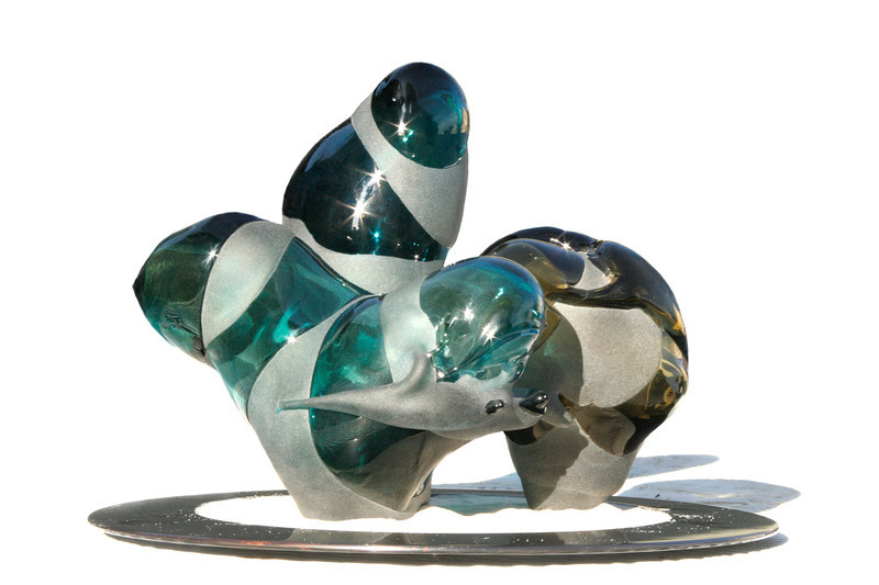 Sculptural Experiment, 1977<br /> Sand Blasted Hand Blown Glass