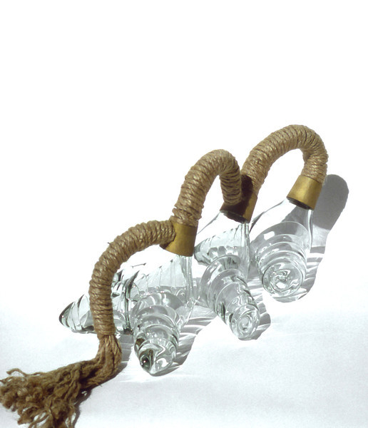 Tug of War, 1978<br /> Hand Blown Glass, Copper and Rope