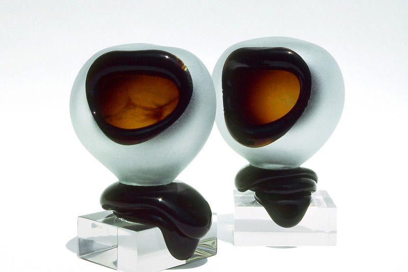 Twins, 1980<br /> Hand Blown Glass and Plastic Cubes