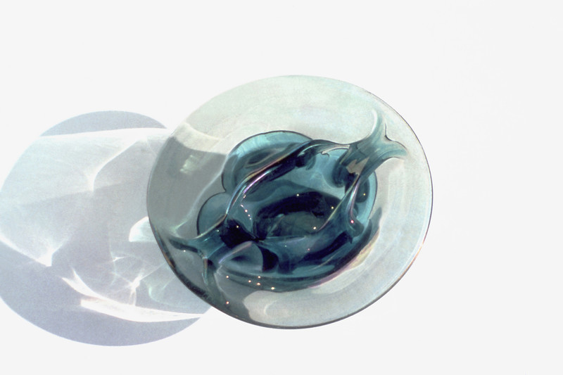 Organic Plate II, 1976<br /> Hand Blown Glass