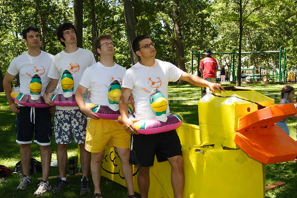 Rubber Duck Boat and Crew