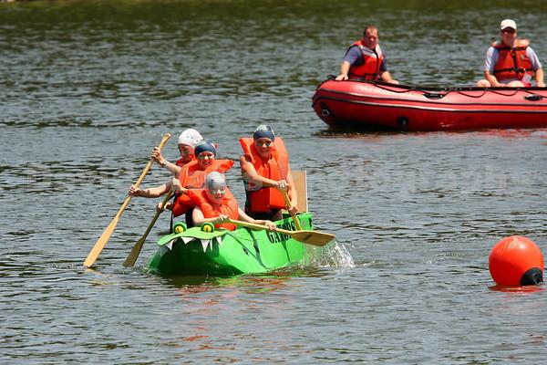 Glen Ellyn's 2009 Lake Ellyn Cardboard Boat Regatta