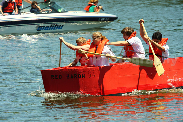 Glen Ellyn's 2010 Lake Ellyn Cardboard Boat Regatta