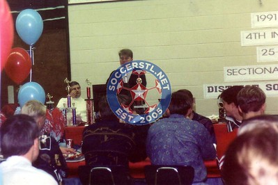 Jeff Rogers speaking at Glendale Banquet 1991