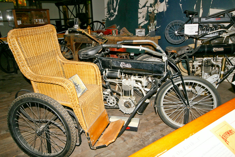 curtis bike with side car