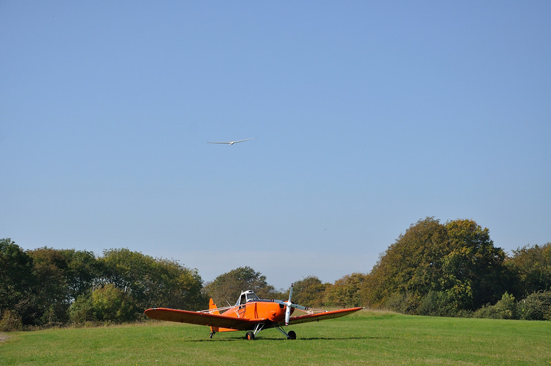 Just miss that plane, it's painted orange so you can't mistake it for the field.